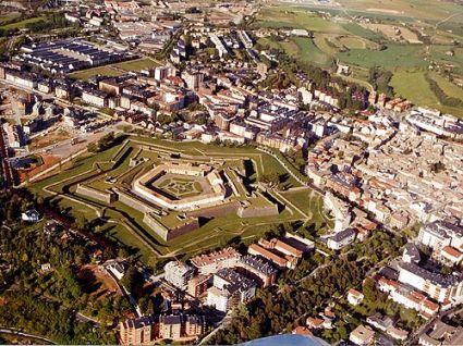 vista aerea de la ciudadela de jaca